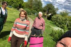 Pflegearbeiten am Kreislehrgarten in Monheim am 25.Mai 2021